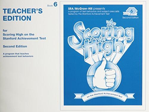 9780026879040: Scoring High on the Stanford Achievement Test: Book 6,Teacher's Edition