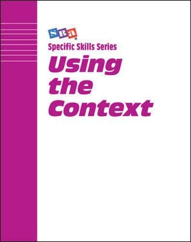 9780026879415: SRA Specific Skill Series: Using the Context, Book A