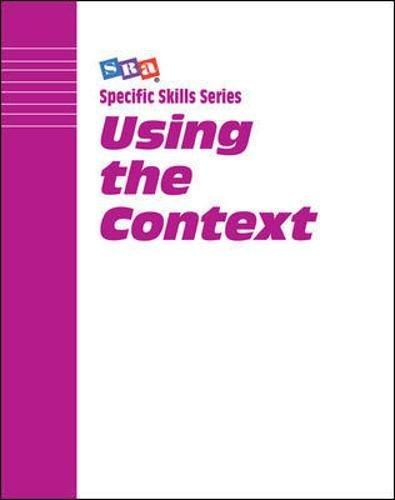 SRA Using the Context, Book B: Boning
