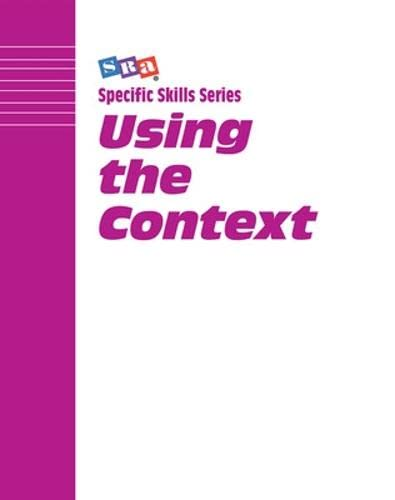 9780026879477: Using the Context: Level G (Specific Skills Series)