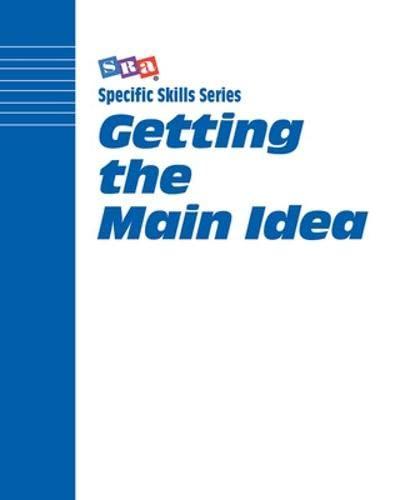 9780026879781: Specific Skills Series, Getting the Main Idea, Book H