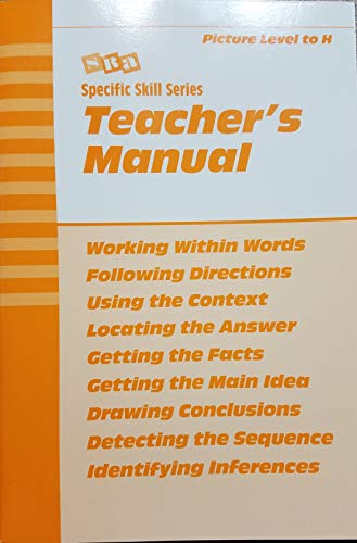 9780026880091: Specific Skill Series Teacher's Manual with Answer Keys: Picture Level to H