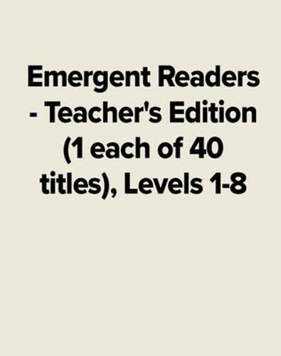 9780026881173: Emergent Readers - Teacher's Edition (1 Each of 40 Titles) - Levels 1-8