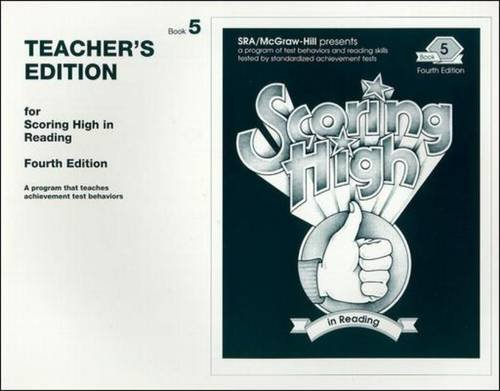 9780026884778: Scoring High in Reading 4th Edition Grade 5 Teacher Edition (SCORING HIGH, READING)
