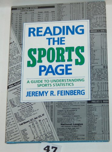 9780027344202: Reading the Sports Page: A Guide to Understanding Sports Statistics : A Skillbook