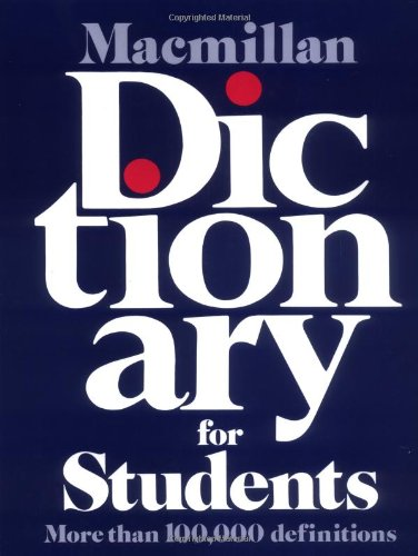 9780027615609: Macmillan Dictionary for Students