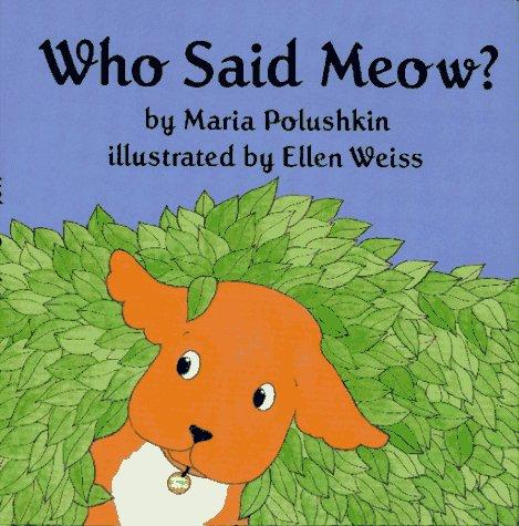 9780027747706: Who Said Meow?