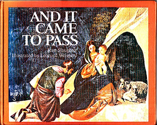 9780027829006: And It Came to Pass: Bible Verses and Carols