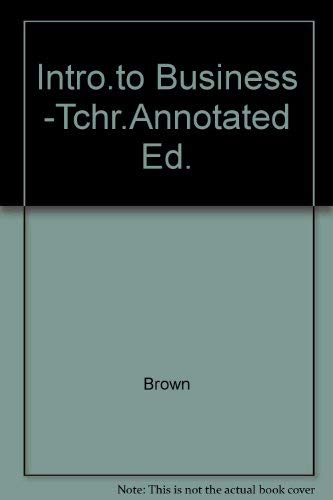 9780028000565: Intro.to Business -Tchr.Annotated Ed.