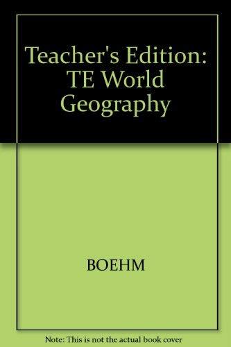 9780028000817: World Geography (Teacher's Edition)