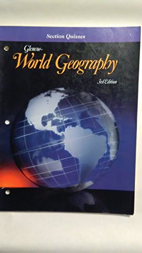9780028000947: Glencoe World Geography Section Quizzes