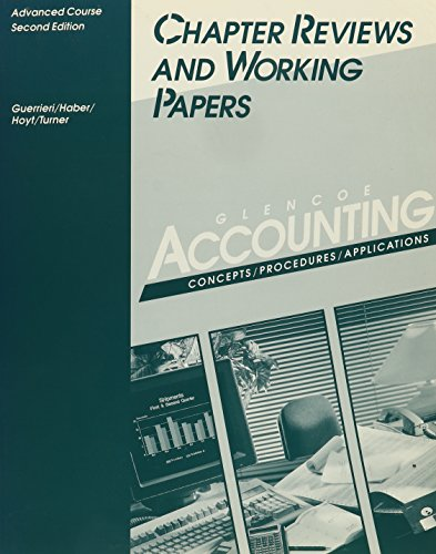 9780028001067: Accounting: Concepts, Procedures Applications, Advanced Course