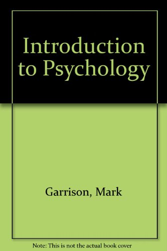 9780028001401: Introduction to Psychology