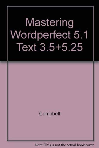 9780028001760: Mastering Wordperfect 5.1: Covers Versions 5.0 and 5.1/Book and Student Disk