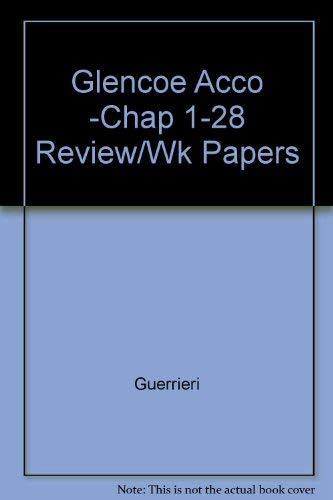 9780028002354: Accounting: Chapter Reviews & Working Papers