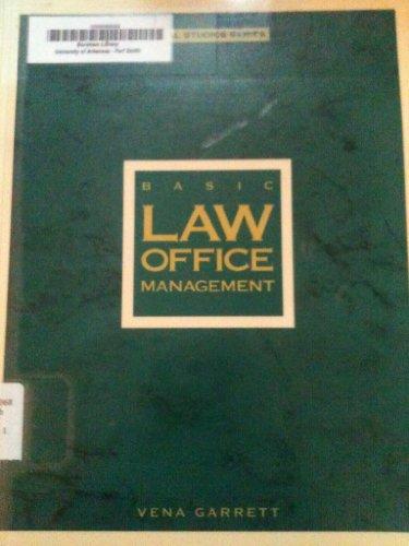 Basic Law Office Management (Legal Studies Series): Vena Garrett