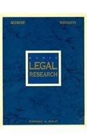 9780028002866: Basic Legal Research (Legal Studies Series)