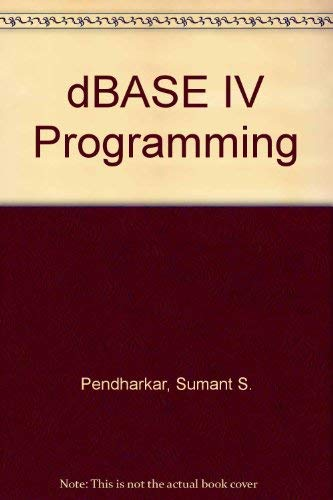 9780028004242: dBASE IV Programming, Text with 3.5