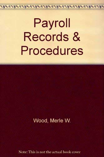 9780028005454: Payroll Records & Procedures