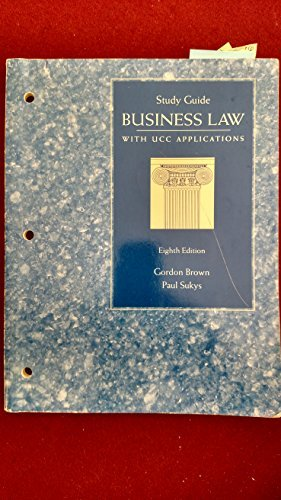 9780028006543: Business Law Study Guide with UCC Aplications