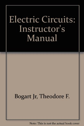 9780028006642: Electric Circuits: Instructor's Manual