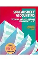 9780028007298: Spreadsheet Accounting: Tutorial and Applications Using Lotus 1-2-3/Book and Disk