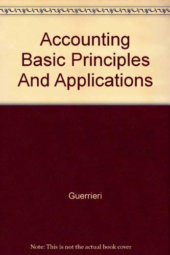 9780028007939: Accounting Basic Principles And Applications