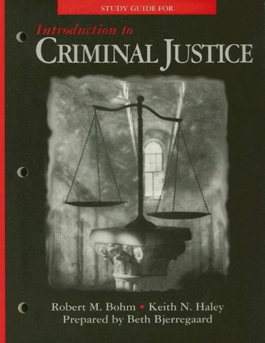 9780028009124: Introduction to Criminal Justice Study Guide, 146 pages