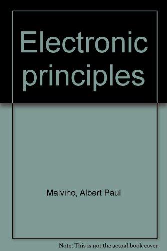 9780028009483: Electronic principles