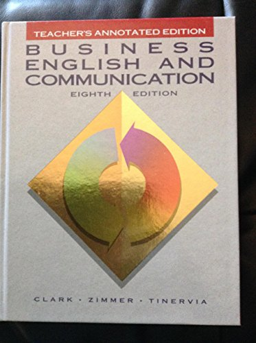 9780028009919: Teachers Annotated Edition (Business English and Communication)