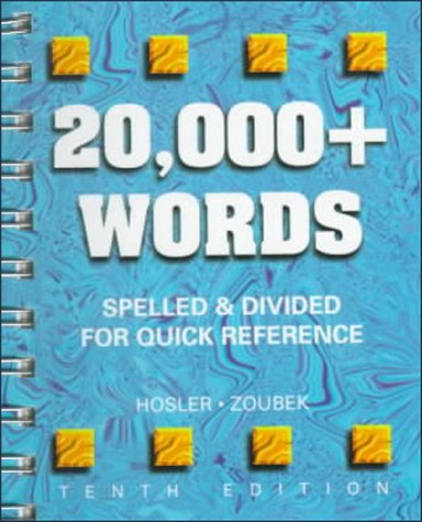 9780028021591: 20,000+ Words: Spelled and Divided for Quick Reference