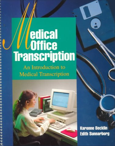 9780028022406: Medical Office Transcription: An Introduction to Medical Transcription