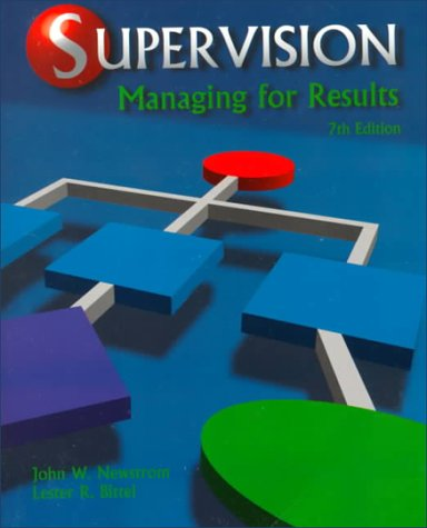 9780028024912: Supervision: Managing for Results