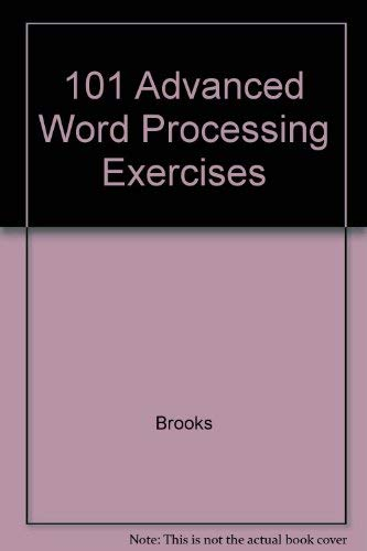 9780028025186: 101 Advanced Word Processing Exercises