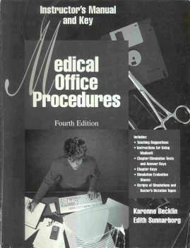 9780028025339: Instructor's manual and key for Medical office procedures