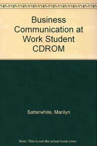 9780028025483: Business Communication at Work Student CD-ROM