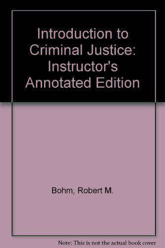9780028028248: Introduction to Criminal Justice: Instructor's Annotated Edition