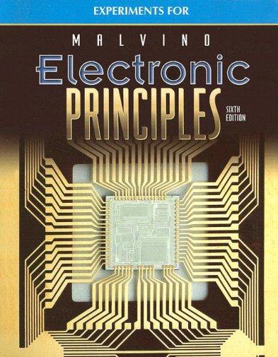 9780028028347: Experiments Manual to accompany Electronic Principles