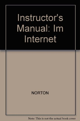 9780028029702: Instructor's Manual: Im Internet
