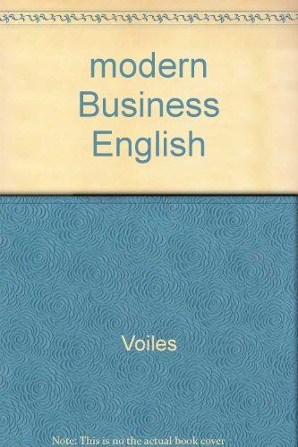 9780028030098: modern Business English