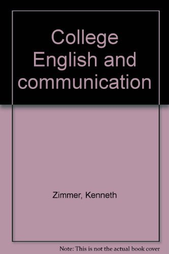 9780028030166: College English and communication