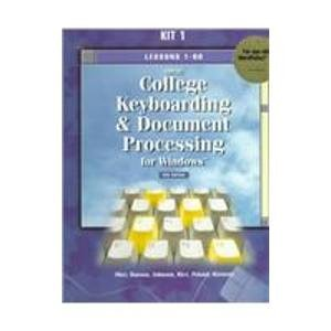 9780028032672: Gregg College Keyboarding & Document Processing for Windows: Kit 1 : Lessons 1-60 : For Use With Wordperfect 7.0