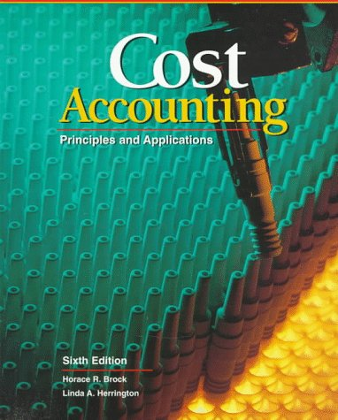 9780028034287: Cost Accounting: Principles and Applications, Text (Accounting Series)