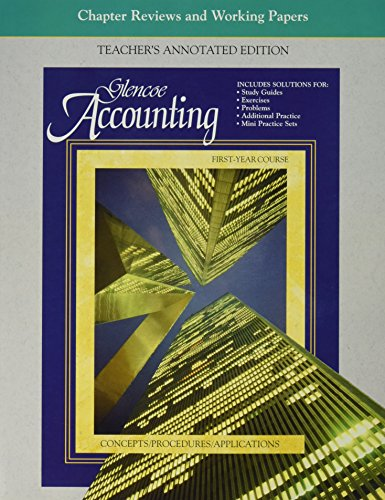 9780028036243: Accounting: First Year: Teacher's Annotated Edition