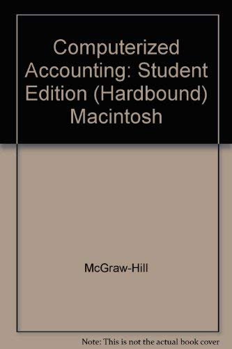 9780028037288: Computerized Accounting: Student Edition (Hardbound) Macintosh