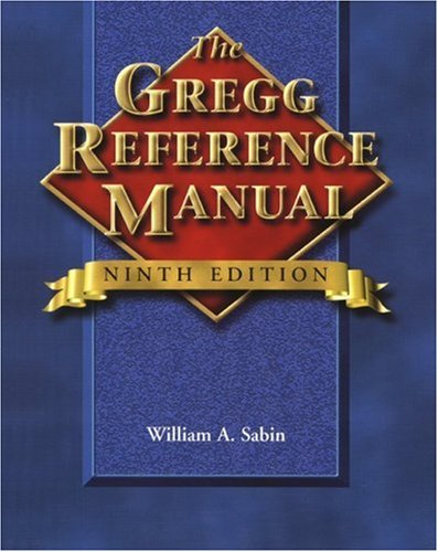 9780028040462: Gregg Reference Manual