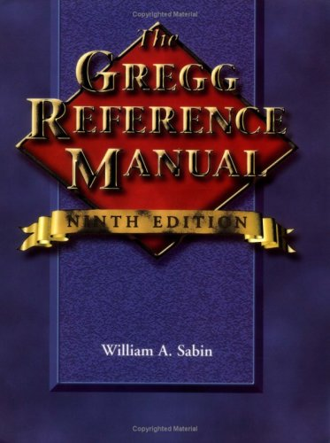 9780028040479: The Gregg Reference Manual