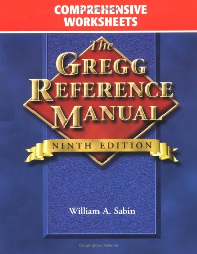 9780028040509: Gregg Reference Manual, Comprehensive Worksheets