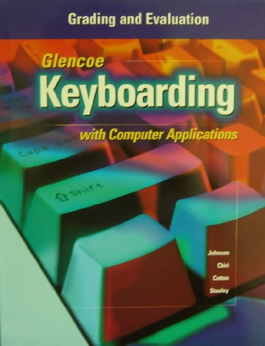 9780028042015: Keyboarding with Computer Application: Grading & Evaluation