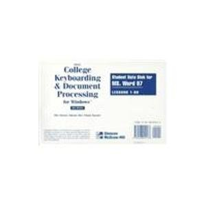 9780028042138: Gregg College Keybroading and Document Processing for Windows: Student Data Disk for Mx Word 97 : Lessons 1-60